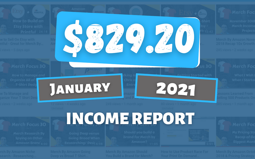 💸 Online Income Report for January 2021: How I Earned $829.20