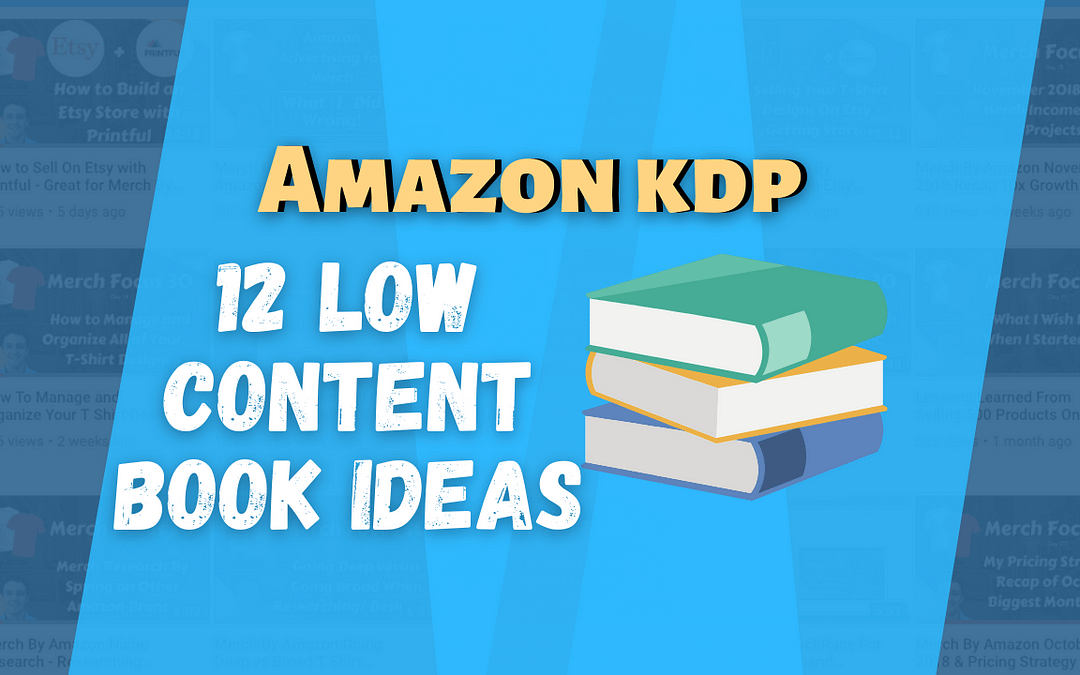 12 Low Content Notebook Ideas for Amazon KDP