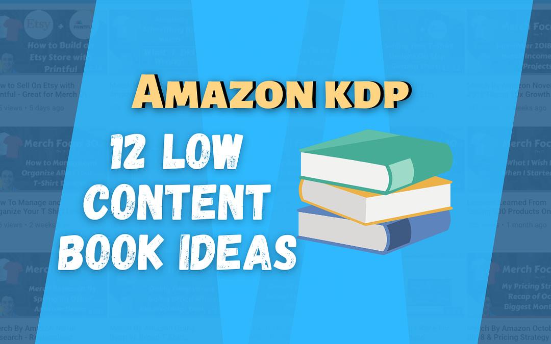 Amazon KDP Book Ideas