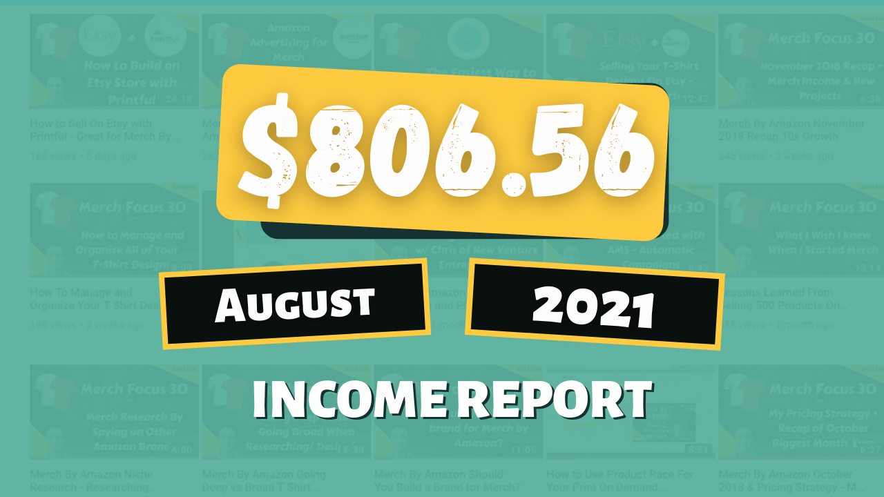 August 2021 Online Income Report